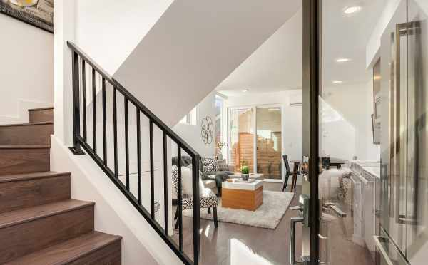 Entryway to Unit F of Centro Townhomes
