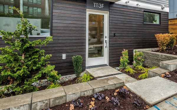 Front Door of 1113F 14th Ave, One of the Corazon North Townhomes in Capitol Hill