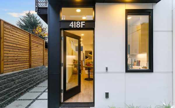 Front Door of 418F 10th Ave E, One of the Core 6.2 Townhomes