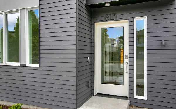 Front Door of 6111 17th Ave NW, one of the Kai Townhomes