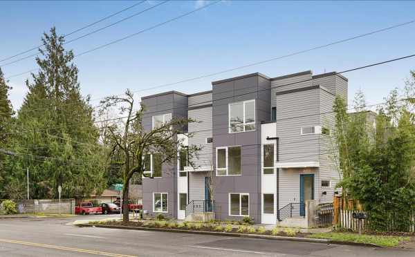 Exterior View of the Lily Townhomes Along Northgate Ave