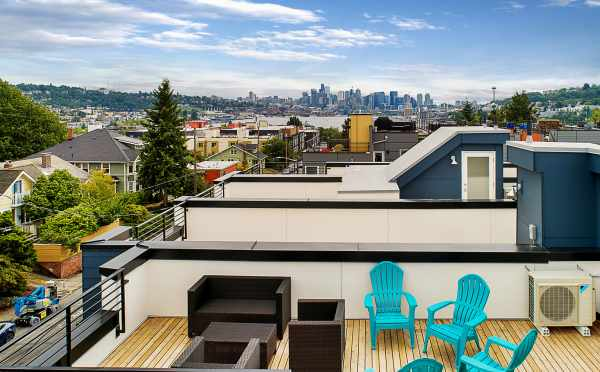 View from the Rooftop Deck of 3527 Wallingford Ave N, the Lucca Townhomes