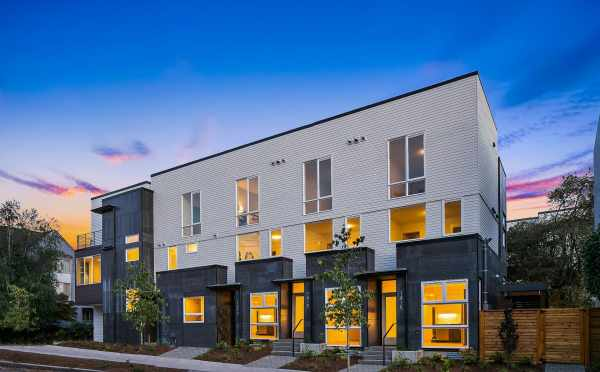 View of the Mika Townhomes Along E Harrison St