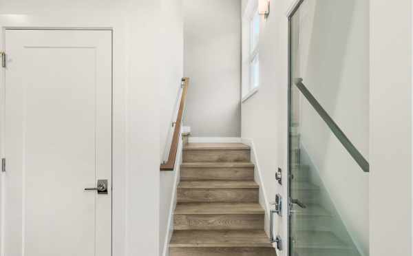 Entryway and Stairs at 323 Malden Ave E