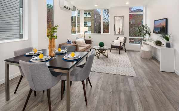 The Dining Area in One of the Units in Oncore Townhomes