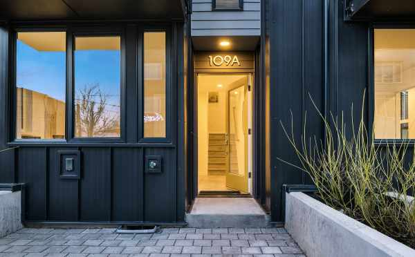 Front Door of 109A 22nd Ave E, One of the Thalia Townhomes