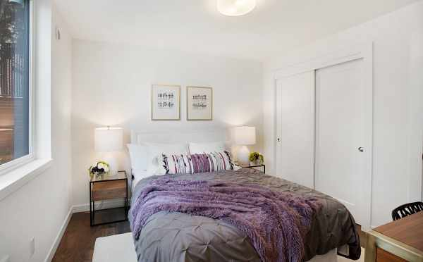 First Floor Bedroom in One of the The Wyn Townhomes in Capitol Hill