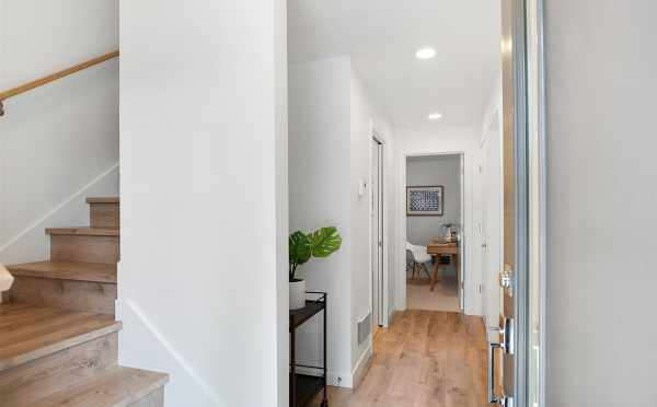Entryway at 5111F Ravenna Ave NE, One of the Tremont Townhomes in University District
