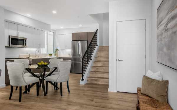Dining Area and Kitchen at 8559 Mary Ave NW in The Trondheim