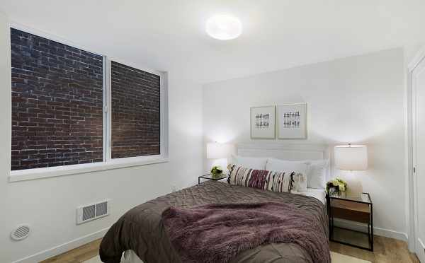 First Floor Bedroom at One of The Wyn Townhomes, by Isola Homes