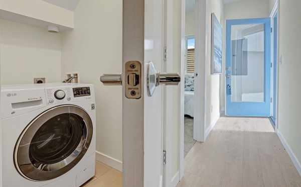Laundry Room in One of the Hawk's Nest Townhomes