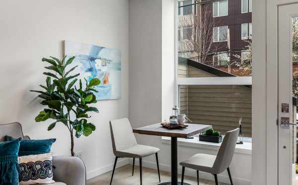 Dining Area in One of the Emory Townhomes in Green Lake