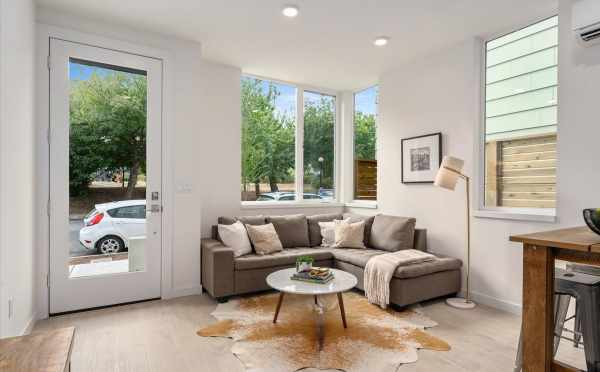 Living Room at 1730C 11th Ave, One of the Altair Townhomes