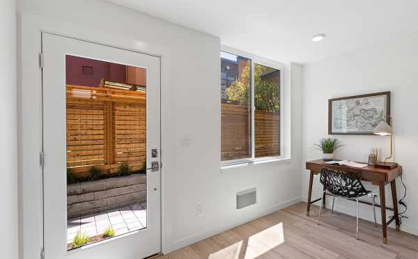 Bonus Space and Front Door at 212B 18th Ave, One of the Amber Homes in the Cabochon Collection by Isola Homes
