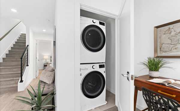 Laundry Area and Nook in 212E 18th Ave in Amber of the Cabochon Collection by Isola Homes