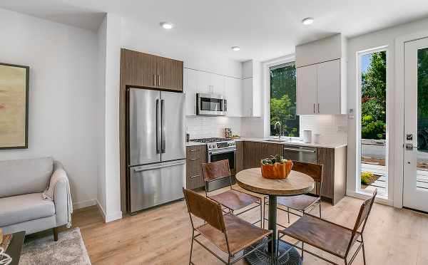 Kitchen and Dining Area at 422F 10th Ave E