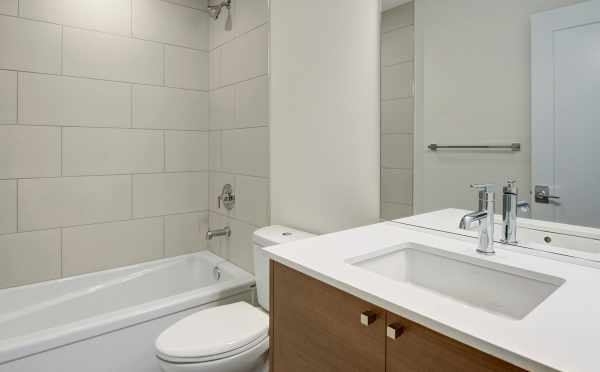 First Floor Bathroom at 3525 Wallingford Ave N in the Lucca Townhomes