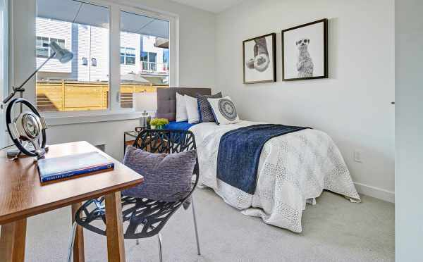 First-Floor Bedroom at 14339E Stone Ave N, One of the Maya Townhomes