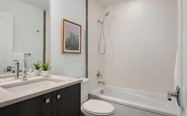 Downstairs Bathroom of Unit 408A at Oncore Townhomes in Capitol Hill