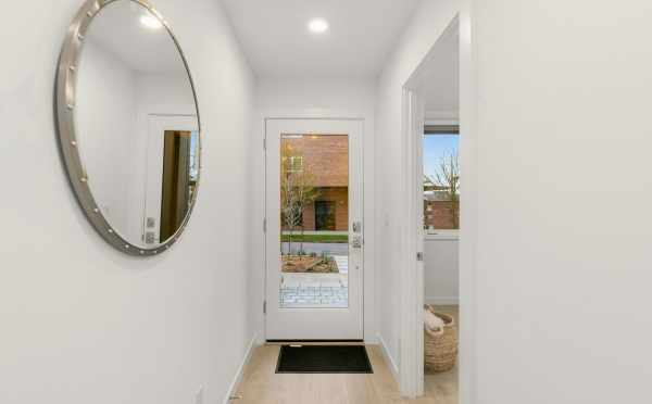 Entryway at 109A 22nd Ave E, One of the Thalia Townhomes by Isola Homes