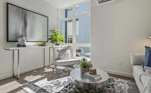Living Room at 1327 NW 85th St, One of the Thoren Townhomes