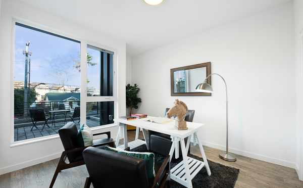 Home Office in One of the Twin II Duplexes at 2135 Dexter Ave N in East Queen Anne