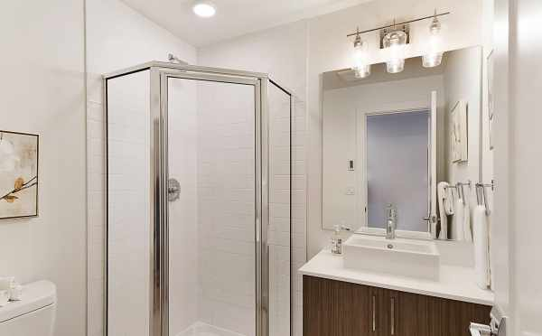 First Floor Bathroom at 1121 E Howell Street, one of The Wyn Townhomes