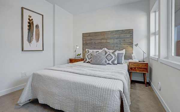 First Floor Bedroom at One of the Lucca Townhomes