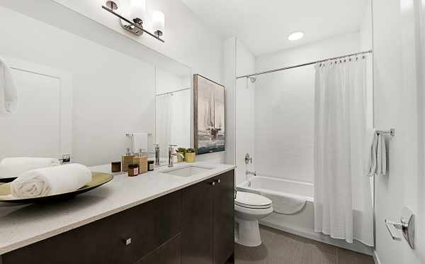 First Floor Bathroom of 7528A 15th Ave NW, Townhome in Talta Ballard