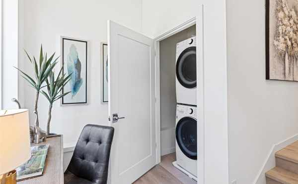 Laundry Area in the Flex Space of 224 18th Ave