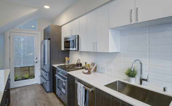 Stainless Steel Kitchen Appliances at 503B NE 72nd St of the Emory Townhomes