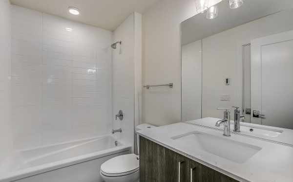 First Floor Bathroom at 1703 NW 62nd St at the Kai Townhomes in Ballard