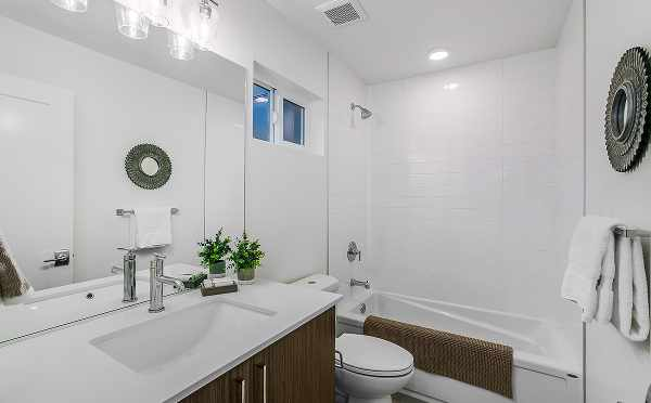 First Floor Bathroom at 6111 17th Ave NW of the Kai Townhomes