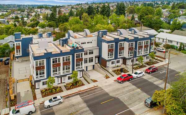 Aerial View of the Lucca Townhomes