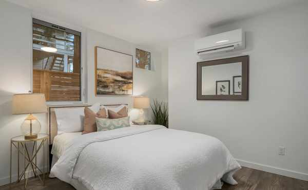 Second Bedroom of Unit 408A at Oncore Townhomes in Capitol Hill