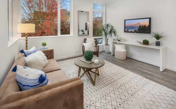 Living Room in One of the Units in Oncore Townhomes