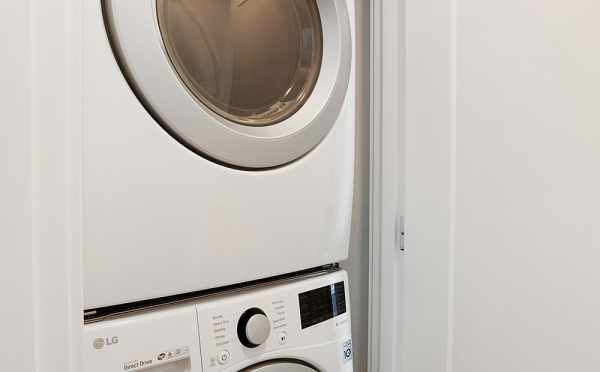 Stackable Washer and Dryer in the Wyn Townhomes
