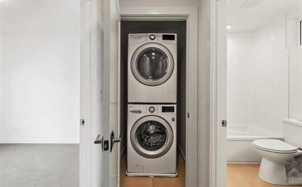 Laundry Area on the First Floor of 7213 5th Ave NE in Verde Towns 3 by Isola Homes