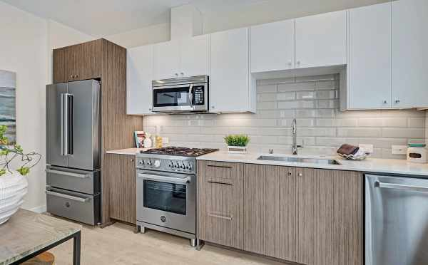 Stainless Steel Appliances in One of the Hawk's Nest Townhomes