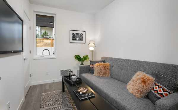 First Floor Bedroom at 201B 23rd Ave E at the 6 Central Townhomes