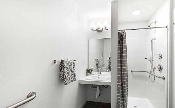 First Floor Bathroom in 7530B 15th Ave NW, Live-Work Unit in Talta Ballard