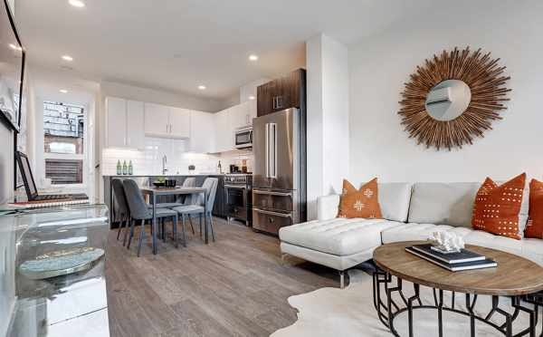Living Room at 50C NE 71st St, One of the Avery Townhomes
