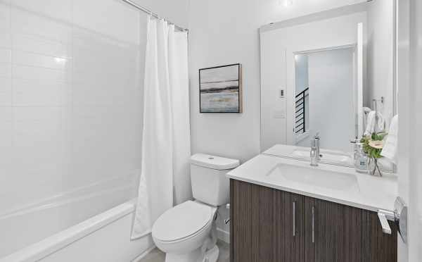 First-Floor Bathroom at 212B 18th Ave, in the Cabochon Collection by Isola Homes