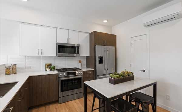 Kitchen at 1812 E Spruce St, One of the Opal Rowhomes in the Cabochon Colleciton