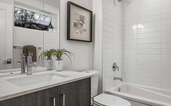 First Floor Bathroom at 1113F 14th Ave in the Corazon North Townhomes