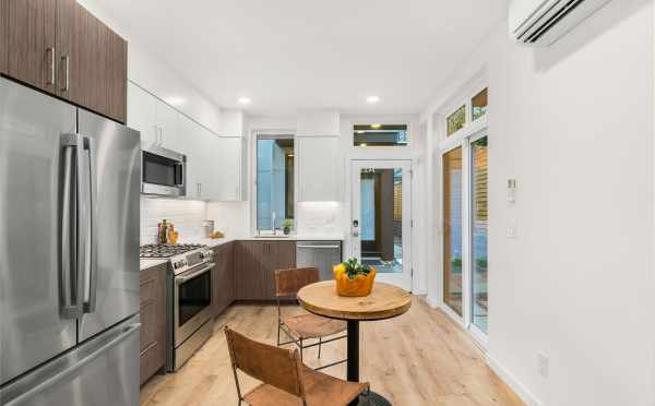 Kitchen and Dining Area at 418F 10th Ave E, One of the Core 6.2 Townhomes
