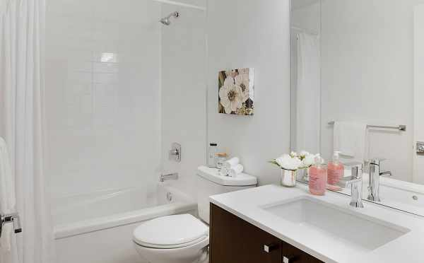 First floor Bathroom in One of the Isla Townhomes