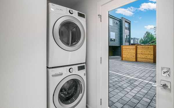 Laundry Area in One of the Kai Townhomes