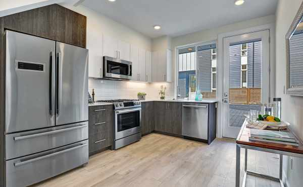 Kitchen in One of the Lifa East Townhomes, an Isola Homes Preferred Builder Property