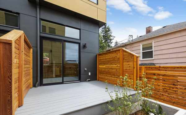 Back Deck at 3015D 30th Ave W, One of the Lochlan Townhomes in Magnolia